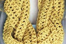 Crocheted Scarves / Crocheted scarves in every shape, style, and color!