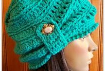 Crocheted Hats / Hats of every size, shape, and color you can crochet. Crocheted hats, crocheted caps, stocking caps, cold weather wear, wearable crochet.