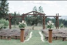 Vineyard Ceremony / Our beautiful vineyard ceremony location can seat up to 250 guests in our ceremony chairs and up to 200 guests with our custom bench seating option. This location showcases our stunning view of the city!