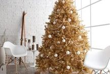 Shades of Gold / Rose gold, gold, champagne gold, old gold - all shades for your holiday decorating!