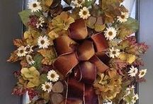 Wreaths, Door and Wall decorations / by Sandy Cornwell