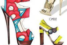 Fashion sketching:shoes