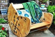 Re-purposing  / Re-purposing is a terrific way to make those old things in your garage or closet feel new again. You don't have to buy all new things for your new home! Re-purpose it!
