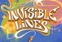 Invisible Lines / Inspiration and images for Invisible Lines by Mary Amato. Images include: Mary Amato, mushrooms, graffiti on shoes, soccer, mycelia,mycelium, Antonio Caparo.