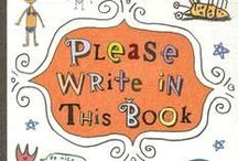 Please Write in This Book / Inspiration and images for Please Write in This Book by Mary Amato. Images include: Mary Amato, classroom, journals, kids writing in journals, notebook, funny pictures, cute pictures, Eric Brace.