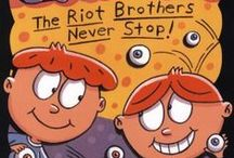 The Riot Brothers / Inspiration and images for Take the Mummy and Run, Stinky and Successful, Drooling and Dangerous, and Snarf Attach Underfoodle and the Secret of Life by Mary Amato. Images include: Mary Amato, The Riot Brothers, Orville and Wilbur Riot, Orville and Wilbur Wright, mummies, Amelia Earhart, Amelia E. Hart, funny bugs, popcorn, cute socks, socks, cute eyeballs, underpants on head, funny.