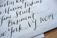 Paper: Lettering / Calligraphy and stationery: addressed envelopes and alphabets for inspiration.