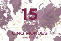 Happy Birthday Cinq Mondes ! / It's exactly 15 years since Cinq Mondes opened the first Spa in France offering Beauty and Wellbeing Rituals of the World. For 15 years, Cinq Mondes Spas has been gathering a wonderful range of Treatments that are distinctive for their quality, authenticity and ceremonial traditions.