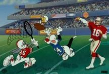 Warner Bros. Animation Sports Art / Warner Bros. has had a rich history of working with top sports figures incorporating their image into a special animated art scene with the Looney Tune characters.