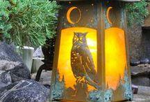 LAMPS & LIGHTING: ARTS & CRAFTS , UNIQUE , ANTIQUE.. / by Lisa Deckert