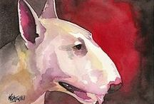 #Bull #Terriers #Creative #Idea / English Bull Terrier Art! Painting and Handcrafting as it is! / by English Bull Terrier Store
