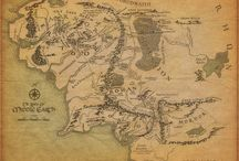 """Tolkien's World /  All you need and much more on the two epic cinema trilogies: """"The Lord of the Rings"""" and """"The Hobbit"""". This board is packed full of information and humor on Hobbits, Dwarves, Humans, and Elves of Middle Earth. Can you guess which are my favorite? / by Courtney Yarmuch"""