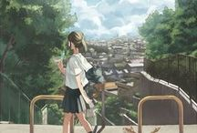 Japanese Art of Anime and Manga / From a young age of adoring Studio Ghibli's films, I've always loved the art itself of Anime and Manga, though I've never gotten into either extensively, mostly because I've never liked how these types of stories progress. But the art is beautiful.