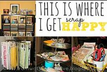 Creative Spaces and Scrapbook Rooms / I love craft spaces, scrapbook rooms, creative spaces, crop spots, and everything in between.