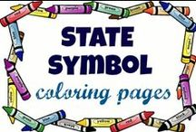 USA Coloring Pages / Learning about the United States can be fun for kids of all ages. We've assembled collections of FREE coloring pages and activity sheets that are perfect for your next scrapbook project. Learn about your own state and its symbols, or create a keepsake lapbook featuring all fifty of the United States of America. These coloring page pins are grouped in sets of all fifty states and link properly to the artists who've created them. https://usa-facts-for-kids.com/state-symbol-coloring-pages/
