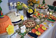 Colorful Party Ideas / Colorful party inspiration and ideas for planning. {tropical party inspiration}