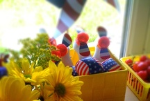 Red, White and Blue Inspiration / Americana, 4th of July, Memorial Day Party Inspiration