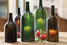 Wine Bottle Ideas / You'll never throw away another wine bottle after seeing all of these wonderful craft and decor ideas. Wine bottle art is especially beautiful in the garden. Richard Pim's amazing wine bottle dome was created from more than 3,000 wine bottles. My own empty wine bottle collection is nearing 500, so I will be attempting several of the projects shown here.