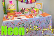 Neon Splatter Party Ideas / Inspiration for my daughter's 14th Birthday!