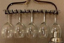 Wine Glass Ideas / A collection of craft ideas for wine glasses, and creative ways to display wine glasses.