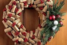 Christmas Wine Decor / Celebrate the holidays with unique decor items crafted from upcycled wine bottles, glasses, and corks. Toast to the holidays with Christmas theme wine glasses. Christmas wine accessories and decor items include candle holders, wine glass charms, bottle stoppers, and wine bottle covers. http://lawineaux.blogspot.com/