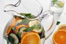 Infused Water Recipes / Water doesn't have to be boring. Try these flavored water recipes for flavor variety and added health benefits!