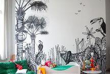 On walls / Wallpaper