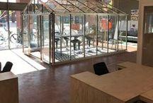 Glazen kantoorruimtes