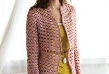 Moda trico e crochê. / Lindas peças de moda