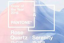 pantone: rose quartz + serenity