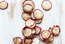~radishes~ / Radishes are the perfect warm-weather and cold-weather food; in the winter, they can be roasted, and in summer, they're perfect simply sliced and topped with sea salt