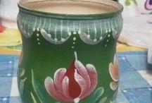 Arte em Reciclagem com garrafas,latas, plásticos e vidros - 1 / Arte da reciclagem em garrafas, plásticos e vidros.