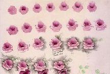Pintura - Flores 3 / Vídeos, tutoriais, passo a passo sobre pintura de flores