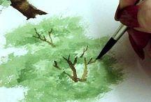 Pintura - Watercolor 2 / Dicas para pintar aquarela.
