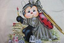 Pintura em Tecido - Joaninhas 1 / Pintura em tecido contemplando joaninhas