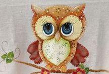 Pintura em Tecido - Animais 2 / Trabalhos com e sem riscos de pinturas e tecidos com tema de animais