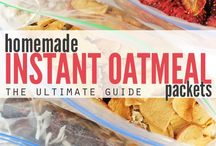 Recipes ~ Oatmeal in a Baggie / Prep ahead these nutritious oatmeal packs. Hubby LOVES them!!✔