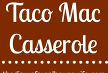 Recipes ~ Comfort Casseroles / Something about one pan casseroles that always is comforting!