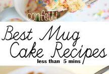 Recipes ~ Mug Cakes! / Mug cakes