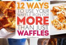 Recipes ~ Waffle Iron! Not just for waffles anymore! / Okay, so I caved!
