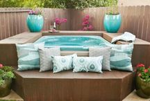 Ideas for Our Hot Tub and Pergola / Pergola and deck is in place. Just need to decide on and add the hot tub