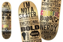 Fonts On Board / A collection of boards decorated with beautiful typefaces.
