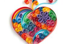 Paper quilling / Curling paper strips