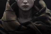DA - Ilran Lavellan / He never felt at home with his clan after the death of his father, mostly because he blamed himself. Despite being a carefree, flippant child, he took his training very seriously after the accident, and became a deadly two-handed warrior. As nonchalant as he seemed after the Conclave, the Anchor terrified him, and only Dorian was able to ease his mind.