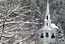 LIttle White Church / My Love of Little Country Churches.