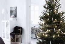 c h r i s t m a s / christmas decorations, tree, garlands, table, diy, lights, inspiration, white, minimalism, festive decor,