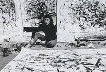 Joan Mitchell / Art work of US-American painter Joan Mitchell (1925-1992) I Abstract Art I Abstract Expressionism
