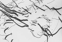 Abstract Drawings / Abstract  Drawing I Non-objektive Drawing I  Experimental Drawing I Jorinde Voigt I Jürgen Partenheimer I  Olivier Umecker I Anna Hepler a.o.
