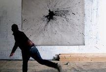 Action Painting / Art Inspiration I Action painting I Abstract expressionism I Jackson Pollock I Kazuo Shiraga I Qin Feng I Gillian Ayres I Sam Francis