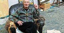 Per Kirkeby / Contemporary Danish artist Per Kirkeby I Painter,  Geologist, Sculptor,  Poet I